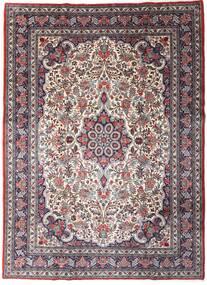 Sarough Sherkat Farsh Alfombra 220X301 Oriental Hecha A Mano Marrón Oscuro/Púrpura Oscuro (Lana, Persia/Irán)