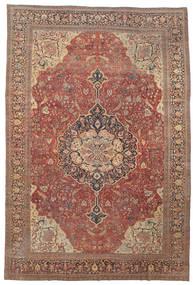Farahan Alfombra 368X550 Oriental Hecha A Mano Rojo Oscuro/Marrón Grande (Lana, Persia/Irán)
