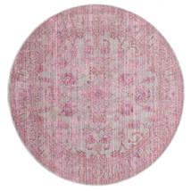 Maharani - Gris/Rosa Alfombra Ø 150 Moderna Redonda Rosa Claro ( Turquía)