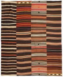 Kilim Patchwork Alfombra 242X298 Moderna Tejida A Mano Marrón Oscuro/Roja (Lana, Turquía)