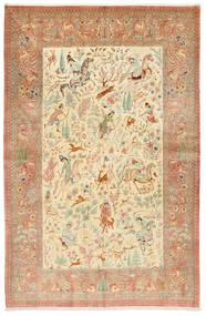 Ghom De Seda Firmada: Hosseini Alfombra 155X240 Oriental Hecha A Mano Óxido/Roja/Beige Oscuro (Seda, Persia/Irán)