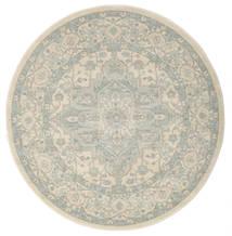 Ziegler Phoenix - Beige/Azul Alfombra Ø 150 Oriental Redonda Gris Claro/Beige Oscuro ( Turquía)