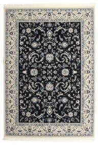 Nain Florentine - Azul Oscuro Alfombra 250X350 Oriental Negro/Gris Claro Grande ( Turquía)