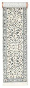 Nain Florentine - Cream Alfombra 80X600 Oriental Gris Claro/Beige/Verde Claro ( Turquía)