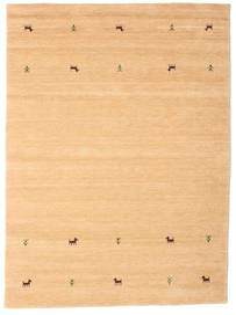 Gabbeh Loom Two Lines - Beige Alfombra 160X230 Moderna Beige Oscuro/Marrón Claro/Amarillo (Lana, India)