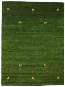 Gabbeh Loom Two Lines - Verde Alfombra 140X200 Moderna Verde Oscuro (Lana, India)