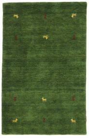Gabbeh Loom Two Lines - Verde Alfombra 100X160 Moderna Verde Oscuro (Lana, India)