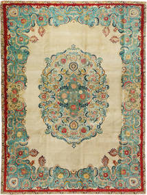 Tabriz Patina Alfombra 300X400 Oriental Hecha A Mano Beige Oscuro/Verde Pastel Grande (Lana, Persia/Irán)