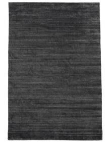 Bambú De Seda Loom - Charcoal Alfombra 200X300 Moderna Negro/Violeta/Gris Oscuro ( India)