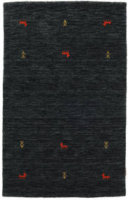 Gabbeh Loom Two Lines - Negro/Gris Alfombra 100X160 Moderna Negro (Lana, India)