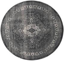 Jacinda - Anthracite Alfombra Ø 200 Moderna Redonda Gris Oscuro/Negro ( Turquía)