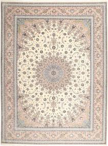 Isfahan Urdimbre De Seda Alfombra 315X420 Oriental Hecha A Mano Gris Claro/Blanco/Crema Grande (Lana/Seda, Persia/Irán)