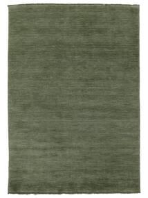 Handloom Fringes - Verde Hierba Alfombra 160X230 Moderna Verde Oscuro/Verde Oscuro (Lana, India)