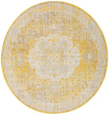 Nadia - Amarillo Alfombra Ø 200 Moderna Redonda Beige Oscuro/Beige/Blanco/Crema ( Turquía)