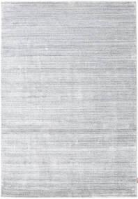Bambú De Seda Loom - Gris Alfombra 160X230 Moderna Blanco/Crema/Gris Claro ( India)
