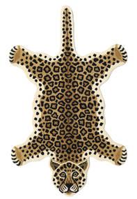 Leopard - Beige Alfombra 100X160 Moderna Negro/Marrón Claro/Beige (Lana, India)