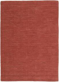 Kilim Loom - Óxido Alfombra 160X230 Moderna Tejida A Mano Rojo Oscuro (Lana, India)