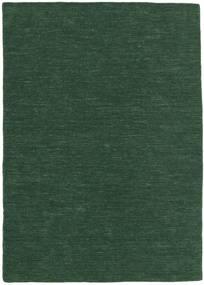 Kilim Loom - Verde Hierba Alfombra 160X230 Moderna Tejida A Mano Verde Oscuro (Lana, India)