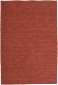 Kilim Loom - Óxido Alfombra 200X300 Moderna Tejida A Mano Rojo Oscuro (Lana, India)