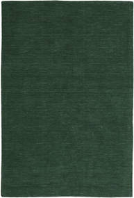 Kilim Loom - Verde Hierba Alfombra 300X400 Moderna Tejida A Mano Verde Oscuro Grande (Lana, India)