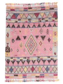 Fanny Alfombra 160X230 Moderna Hecha A Mano Rosa Claro/Gris Claro (Lana, India)