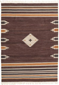 Tribal - Marrón Alfombra 160X230 Moderna Tejida A Mano Marrón Oscuro/Rojo Oscuro (Lana, India)