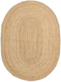 Alfombras De Exterior Frida Oval - Natural Alfombra 160X230 Moderna Tejida A Mano Beige Oscuro/Beige (Alfombra De Yute India)