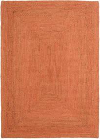 Alfombras De Exterior Frida Color - Naranja Alfombra 140X200 Moderna Tejida A Mano Naranja/Roja (Alfombra De Yute India)