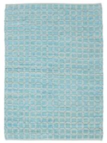 Elna - Bright_Blue Alfombra 200X300 Moderna Tejida A Mano Azul Claro/Azul Turquesa (Algodón, India)