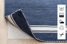Anti Slip, Non-Woven Alfombra 130X190 Moderna Azul/Gris Claro ( Bélgica)