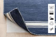 Anti Slip, Non-Woven Alfombra 80X150 Moderna Azul/Gris Claro ( Bélgica)
