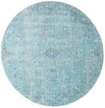 Maharani - Azul Alfombra Ø 150 Moderna Redonda Azul Claro/Azul Turquesa ( Turquía)
