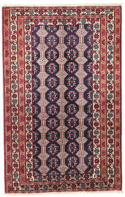 Belouch Patina Alfombra 132X206 Oriental Hecha A Mano Púrpura Oscuro/Beige (Lana, Persia/Irán)