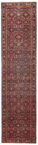 Hosseinabad Patina Alfombra 79X317 Oriental Hecha A Mano Rojo Oscuro/Marrón Oscuro (Lana, Persia/Irán)