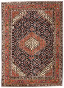 Ardabil Patina Alfombra 208X290 Oriental Hecha A Mano Gris Oscuro/Rojo Oscuro (Lana, Persia/Irán)