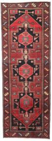Hamadan Patina Alfombra 102X287 Oriental Hecha A Mano Rojo Oscuro/Negro (Lana, Persia/Irán)