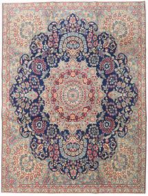 Kerman Patina Alfombra 230X305 Oriental Hecha A Mano Gris Claro/Beige Oscuro (Lana, Persia/Irán)