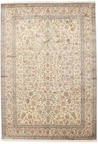 Cachemira Pura De Seda Alfombra 220X315 Oriental Hecha A Mano Gris Claro/Beige (Seda, India)