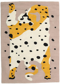 The Spotty Cat - Beige/Multi Alfombra 100X160 Moderna Gris Claro/Beige (Lana, India)