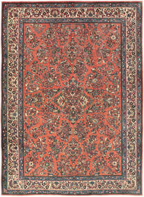 Sarough Alfombra 225X311 Oriental Hecha A Mano Rojo Oscuro/Gris Oscuro (Lana, Persia/Irán)