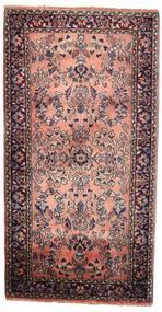 Sarough Alfombra 58X112 Oriental Hecha A Mano Marrón Oscuro (Lana, Persia/Irán)