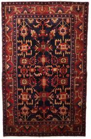 Hamadan Alfombra 132X213 Oriental Hecha A Mano Rojo Oscuro (Lana, Persia/Irán)