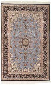 Isfahan Urdimbre De Seda Alfombra 156X239 Oriental Tejida A Mano Gris Claro/Marrón Oscuro (Lana/Seda, Persia/Irán)