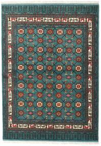Turkaman Alfombra 136X187 Oriental Hecha A Mano Turquesa Oscuro/Gris Oscuro (Lana, Persia/Irán)