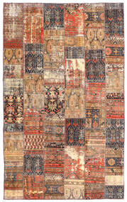 Patchwork - Persien/Iran Alfombra 191X312 Moderna Hecha A Mano Rojo Oscuro/Marrón (Lana, Persia/Irán)