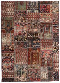 Patchwork - Persien/Iran Alfombra 144X201 Moderna Hecha A Mano Rojo Oscuro/Marrón Oscuro/Marrón Claro (Lana, Persia/Irán)
