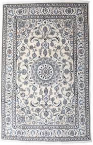 Nain Alfombra 190X297 Oriental Hecha A Mano Gris Claro/Blanco/Crema (Lana, Persia/Irán)