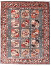 Kazak Alfombra 150X194 Oriental Hecha A Mano Marrón/Rojo Oscuro (Lana, Afganistán)