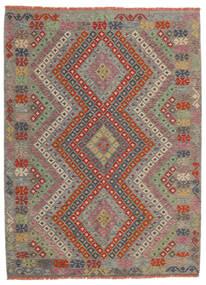 Kilim Afghan Old Style Alfombra 174X234 Oriental Tejida A Mano Gris Claro/Rojo Oscuro (Lana, Afganistán)