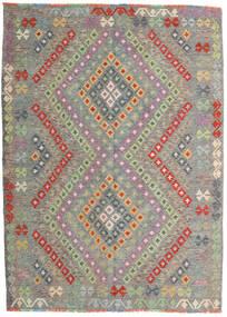 Kilim Afghan Old Style Alfombra 174X241 Oriental Tejida A Mano Gris Claro/Gris Oscuro (Lana, Afganistán)